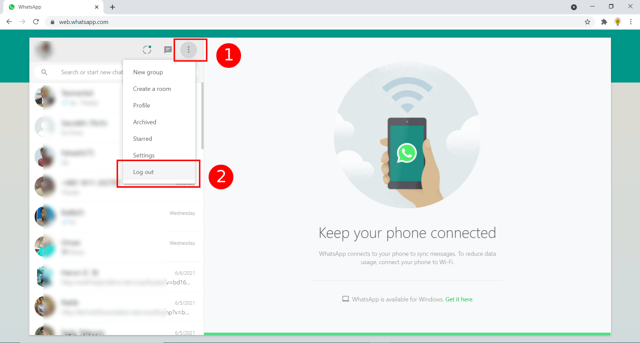 How to Log Out of WhatsApp Web