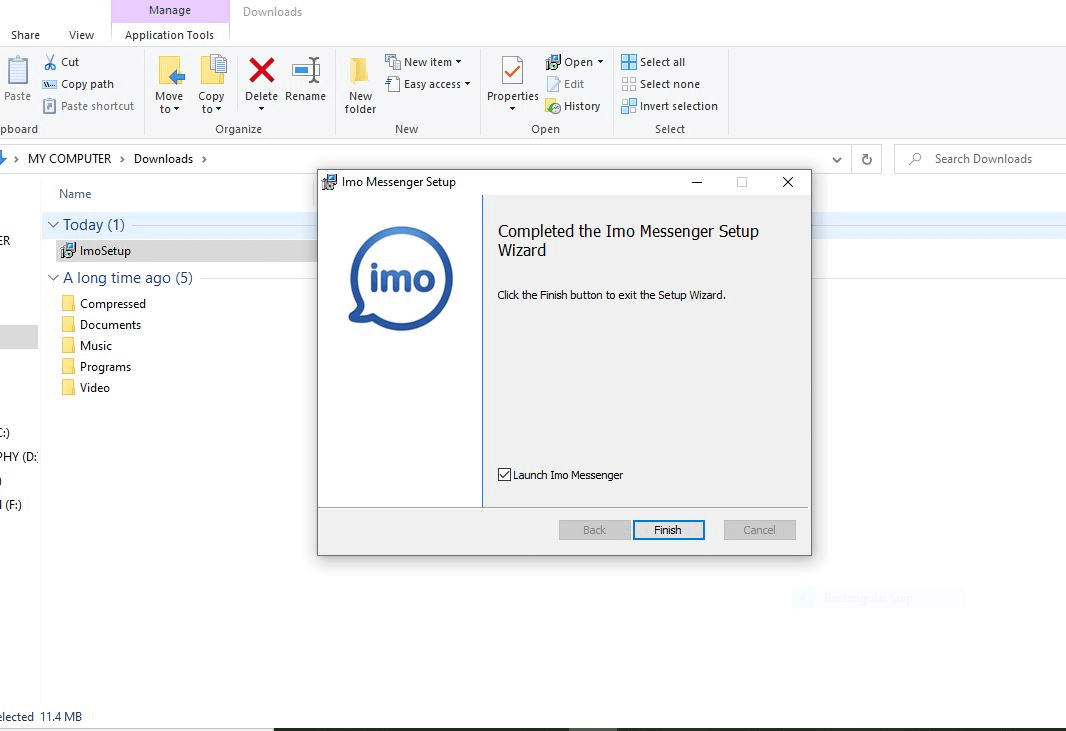 IMO installation is complete