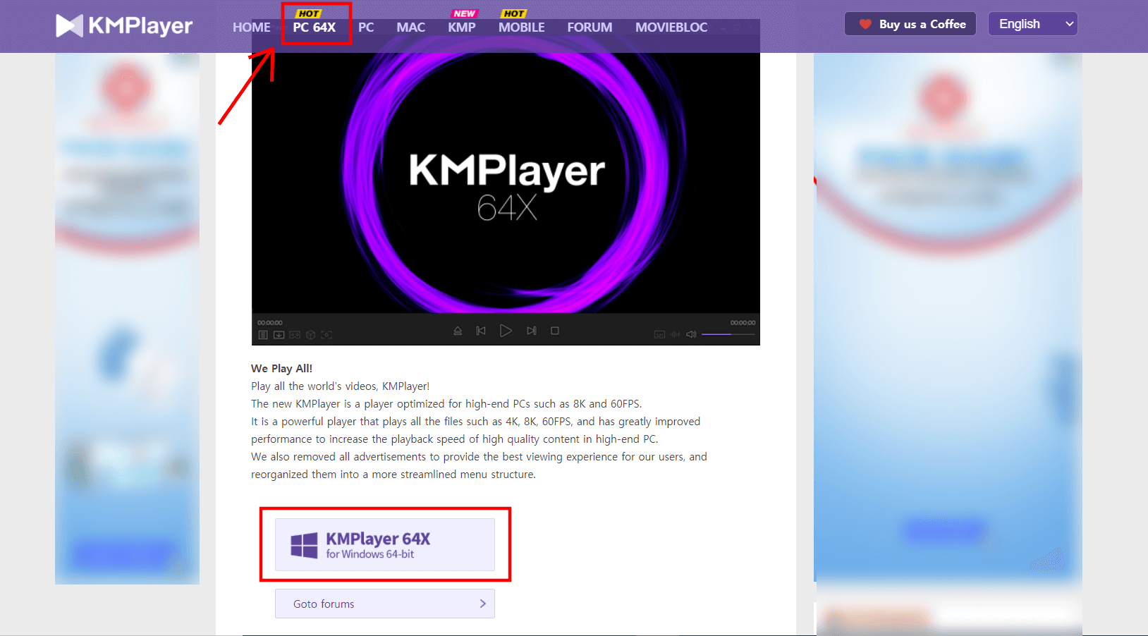 KMPlayer Download for 64bit