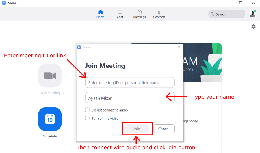 Zoom join meeting