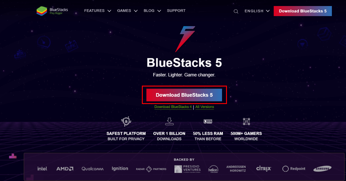 download BlueStacks for MX player